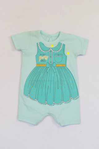 9b32a122a65d Woolworths Mint First Party Dress Romper Girls 0-3 months