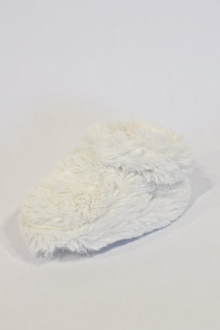 White Fur Slippers Unisex 6-9 months