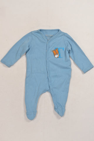 Baby Blue Tiger T Onesie Boys N-B