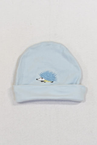 Baby Blue Porcupine Beanie Boys 3-6 months