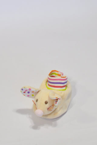 New Baby-Bow Mice Cream Slippers Unisex N-B