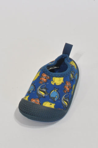 Woolies Blue And Yellow Fish Shoes Boys 9-12 months