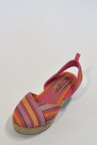Pink Espadrill Wedges Shoes Girls 4-5 years