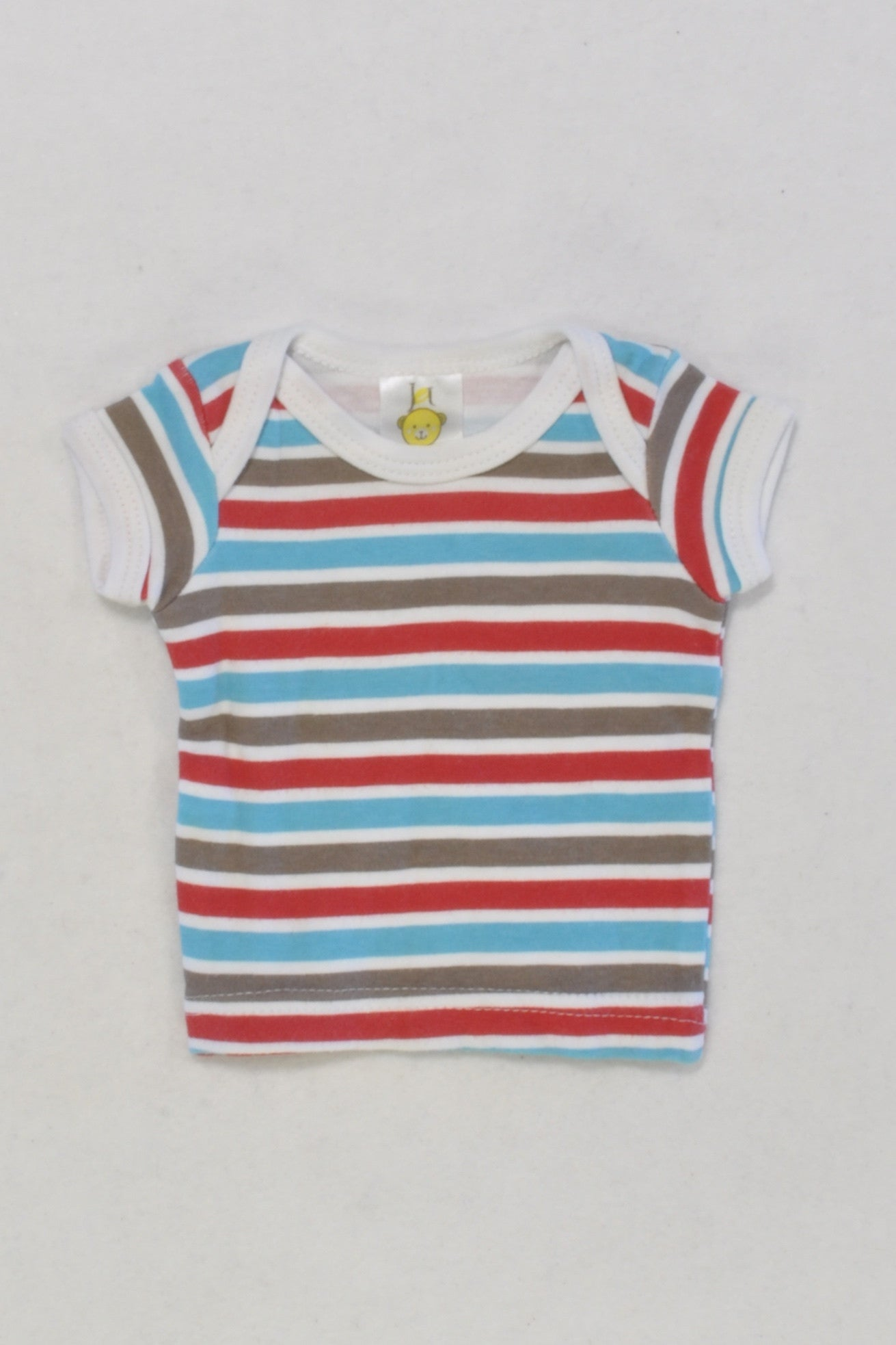 Red & Blue Stripe Tiny T-shirt Boys N-B