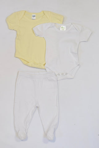 Ackermans 2 Pack Babygrows & Leggings Unisex 3-6 months