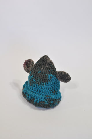 Aqua And Grey Mouse Beanie Boys 3-6 months