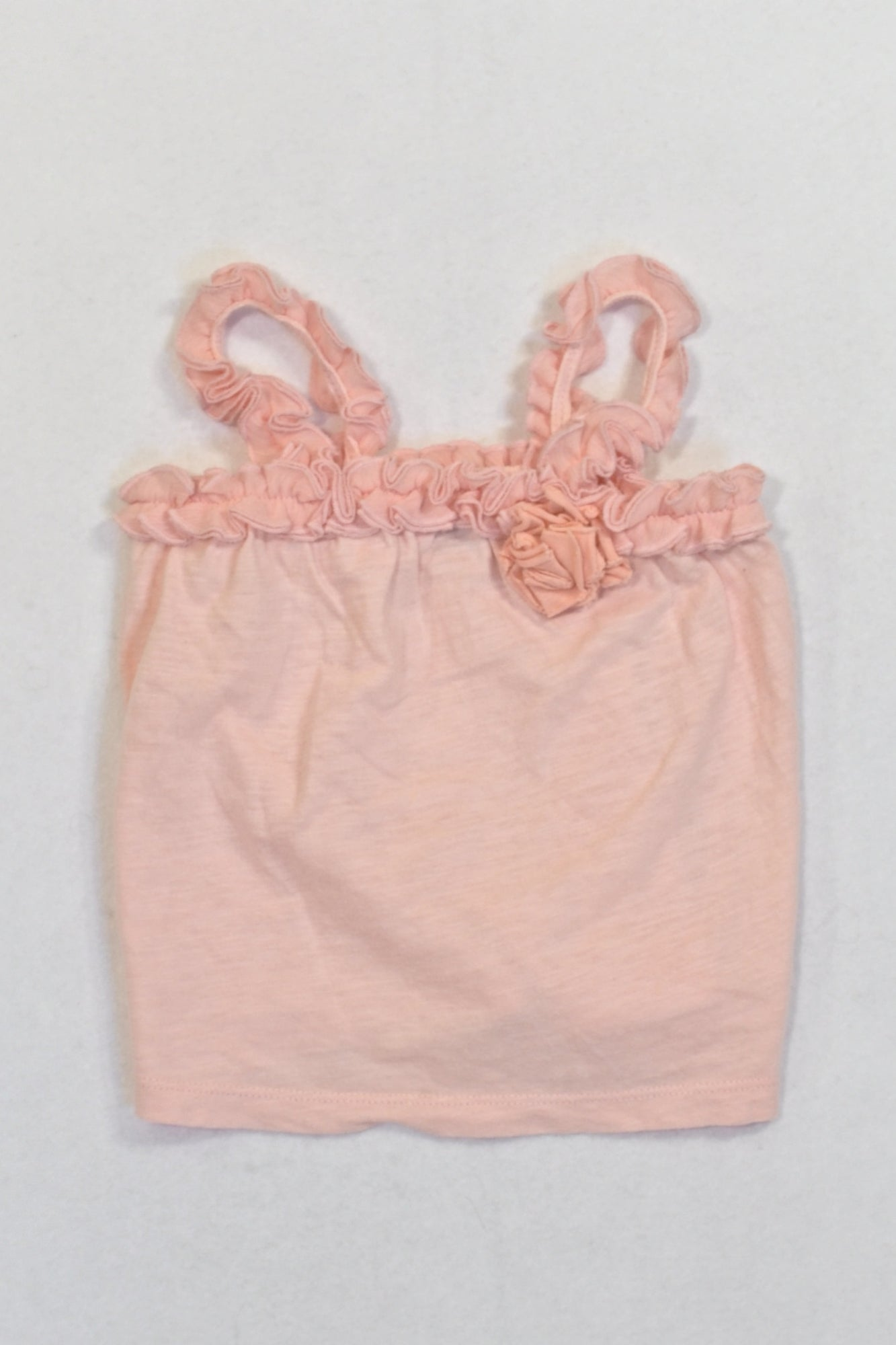 GAP Peach Frill Trim Top Girls 6-12 months
