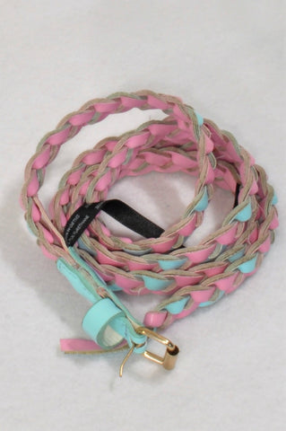 Woolworths Blue & Pink Braided Belt Accessory Girls 12-13 years