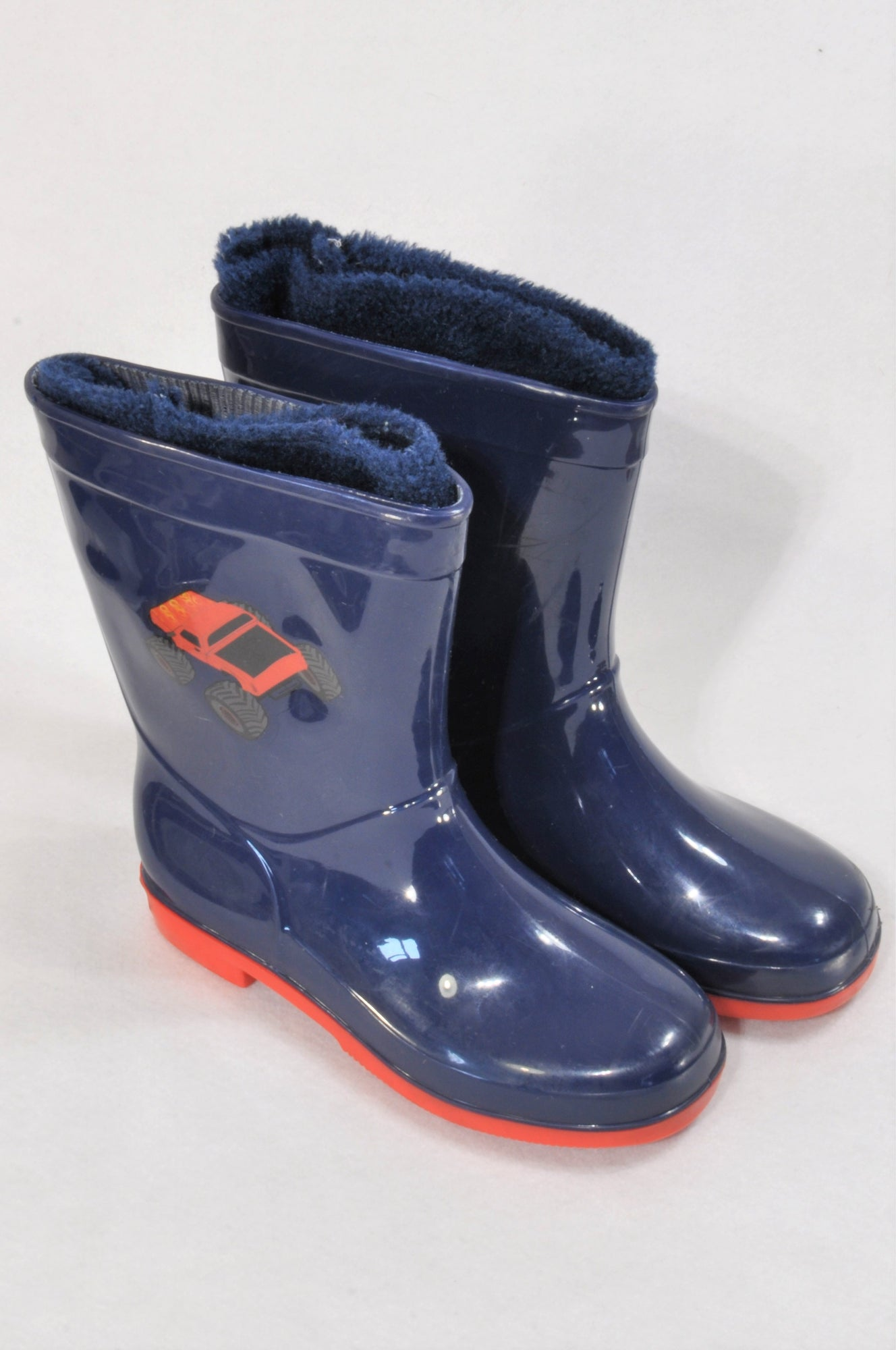 Size 12 Navy Lined Truck Rain Boots Unisex 5-6 years – Once More baac28395339