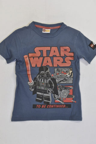 New Blue Lego Star Wars T-shirt Boys 5-6 years