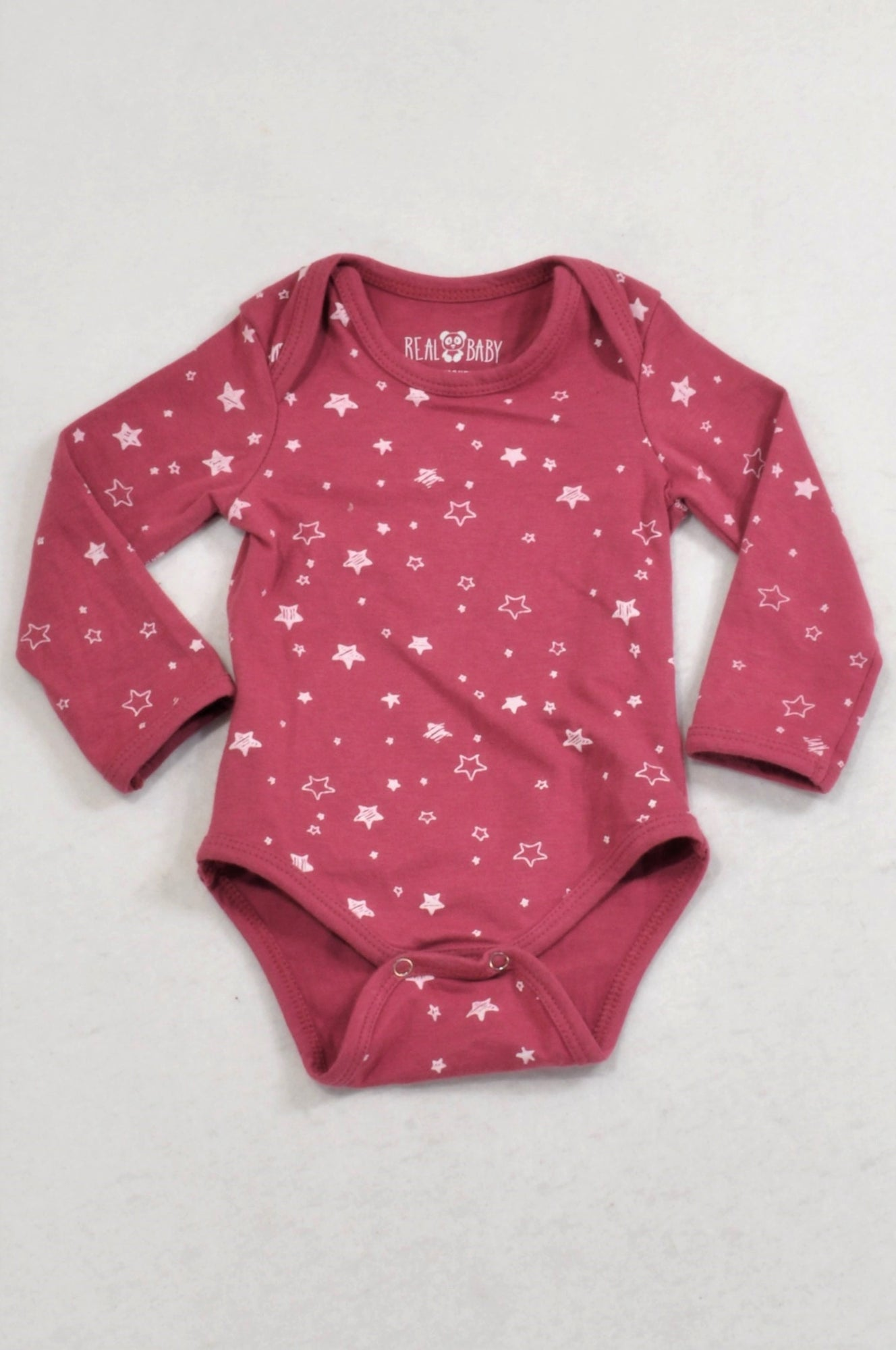 1bf5833325fe Pick 'n Pay Mauve Star Baby Grow Girls 0-3 months – Once More