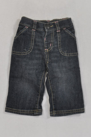 Old Navy Dark Denim Jeans Girls 3-6 months