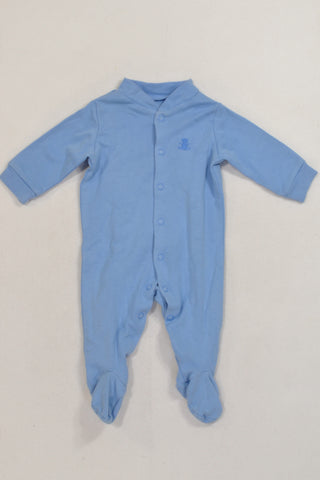 Blue Teddy Onesie Boys N-B