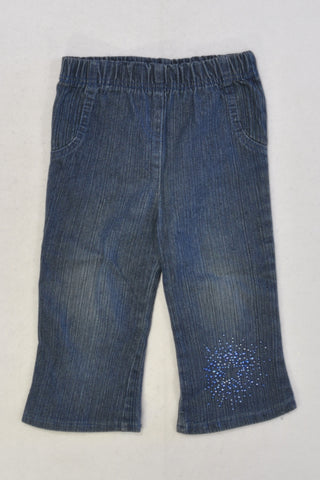 Friends Inc. Jewel Star Stretch Denim Jeans Girls 1-2 years