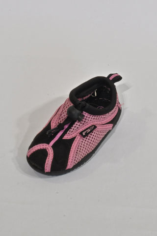 Pink & Black Water Shoes Girls 2-3 years