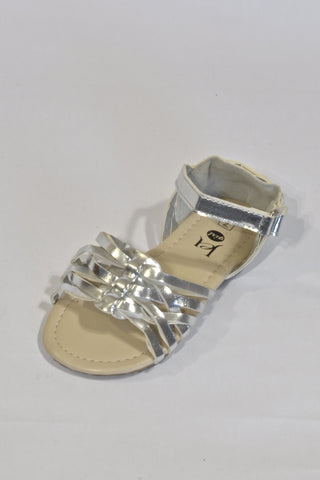 New Silver Sandals Shoes Girls 2-3 years