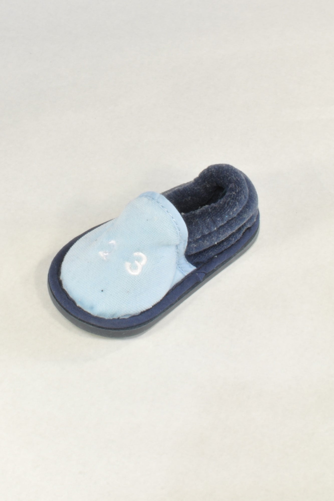 Navy and Baby Blue Slippers Boys 3-6 months