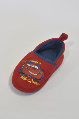 Red Cars Slippers Boys 5-6 years