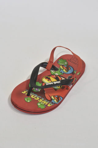Red Angry Bird  Flip Flops Boys 5-6 years