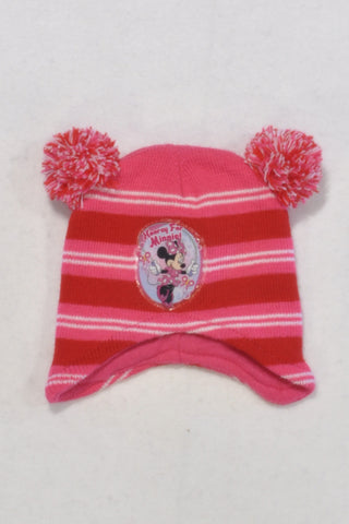 Disney Pink Minnie Beanie Girls 6-12 months