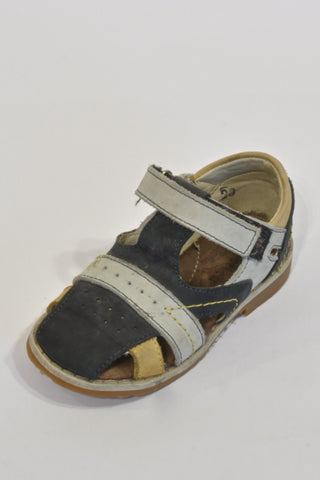 Blue and Tan Leather Sandals Boys 2-3 years