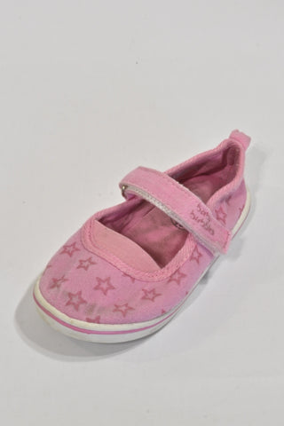 Pink Star Velcro And Elastic Shoes Girls 2-3 years