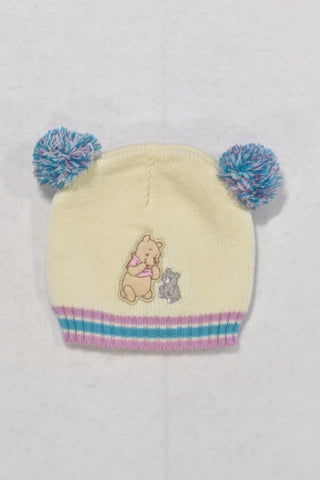 Disney White Pooh Beanie Girls 12-18 months