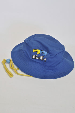 Billabong Blue And Yellow Swim Hat Boys 5-6 years