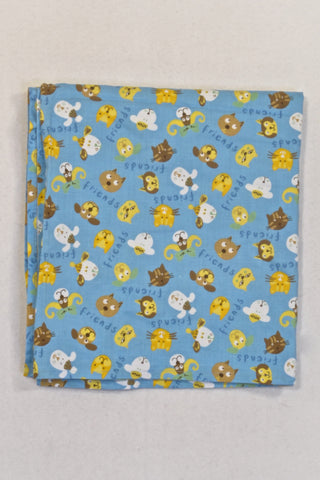 Blue Dog and Cat Friends Sheet Unisex N-B