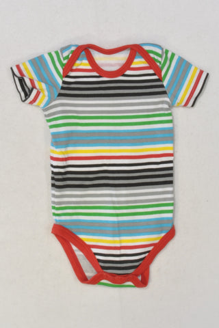 Colourful Stripe Baby Grow Boys 3-6 months