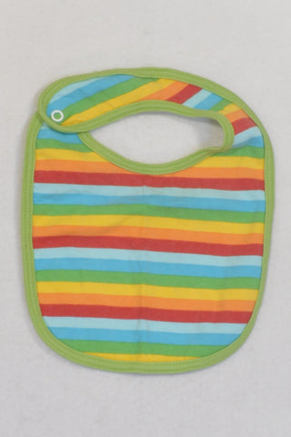 Colourful Striped Bib Unisex 3-6 months