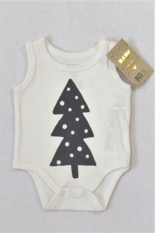 New Cotton On Vanilla Modern Tree Baby Grow Unisex 12-18 months