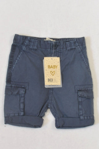 New Cotton On Basic Navy Cargo Shorts Boys 12-18 months