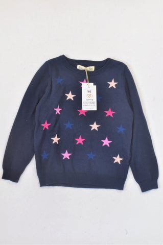New Cotton On Blue Peacoat Multi Star Jersey Girls 5-6 years