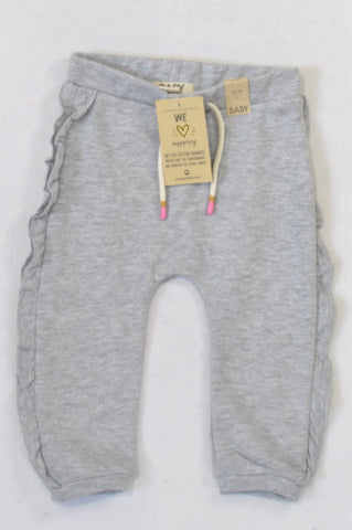 New Cotton On Grey Ruffle Track Pants Girls 18-24 months