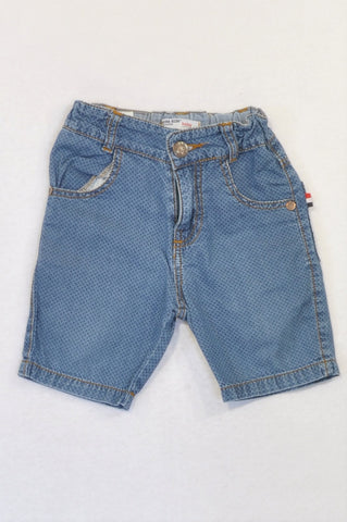 Beba Kids Denim Ditsy Print Shorts Boys 18-24 months