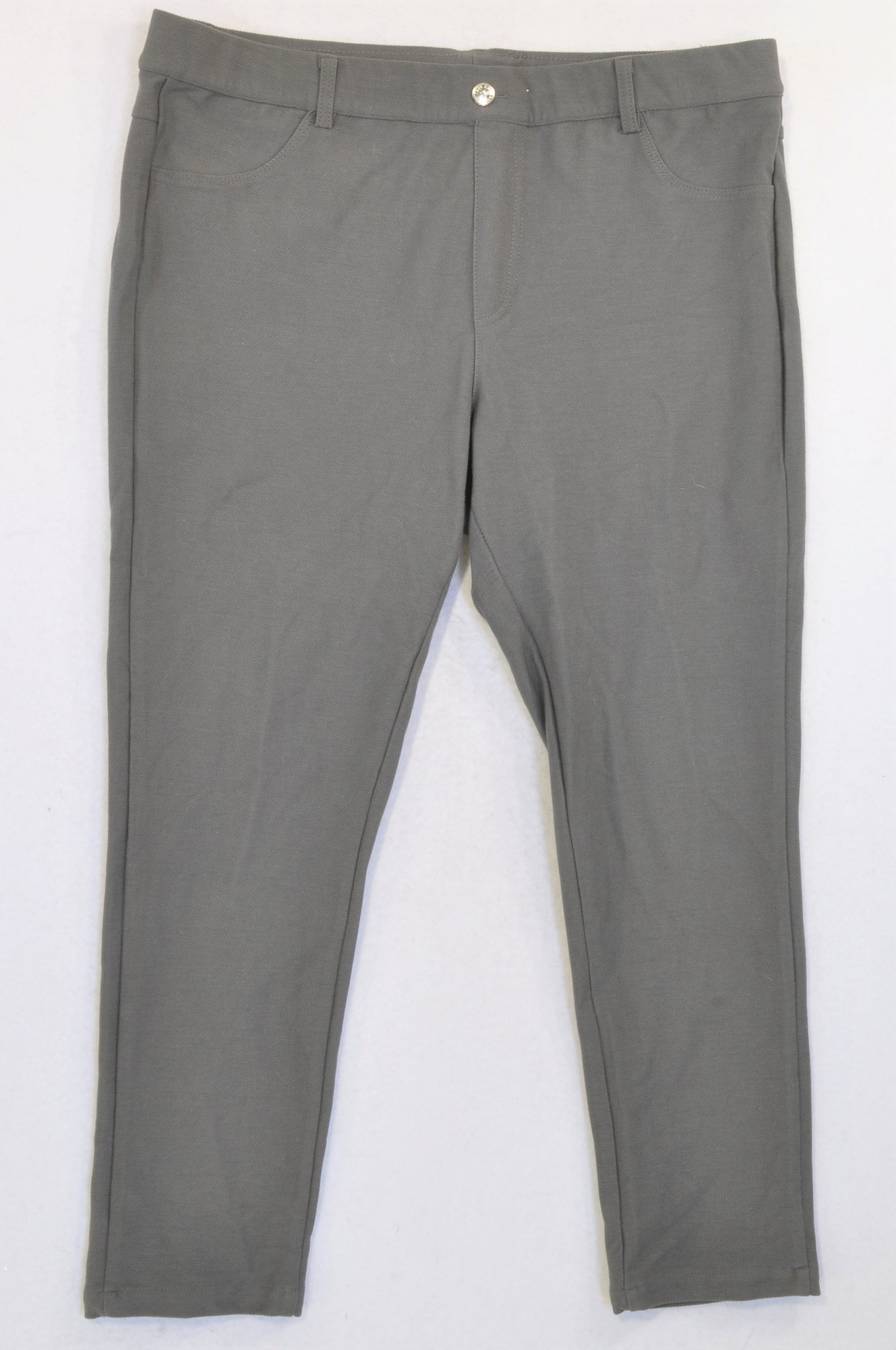 New Pick 'n Pay Grey Textured 3/4 Jeggings Women Size 16