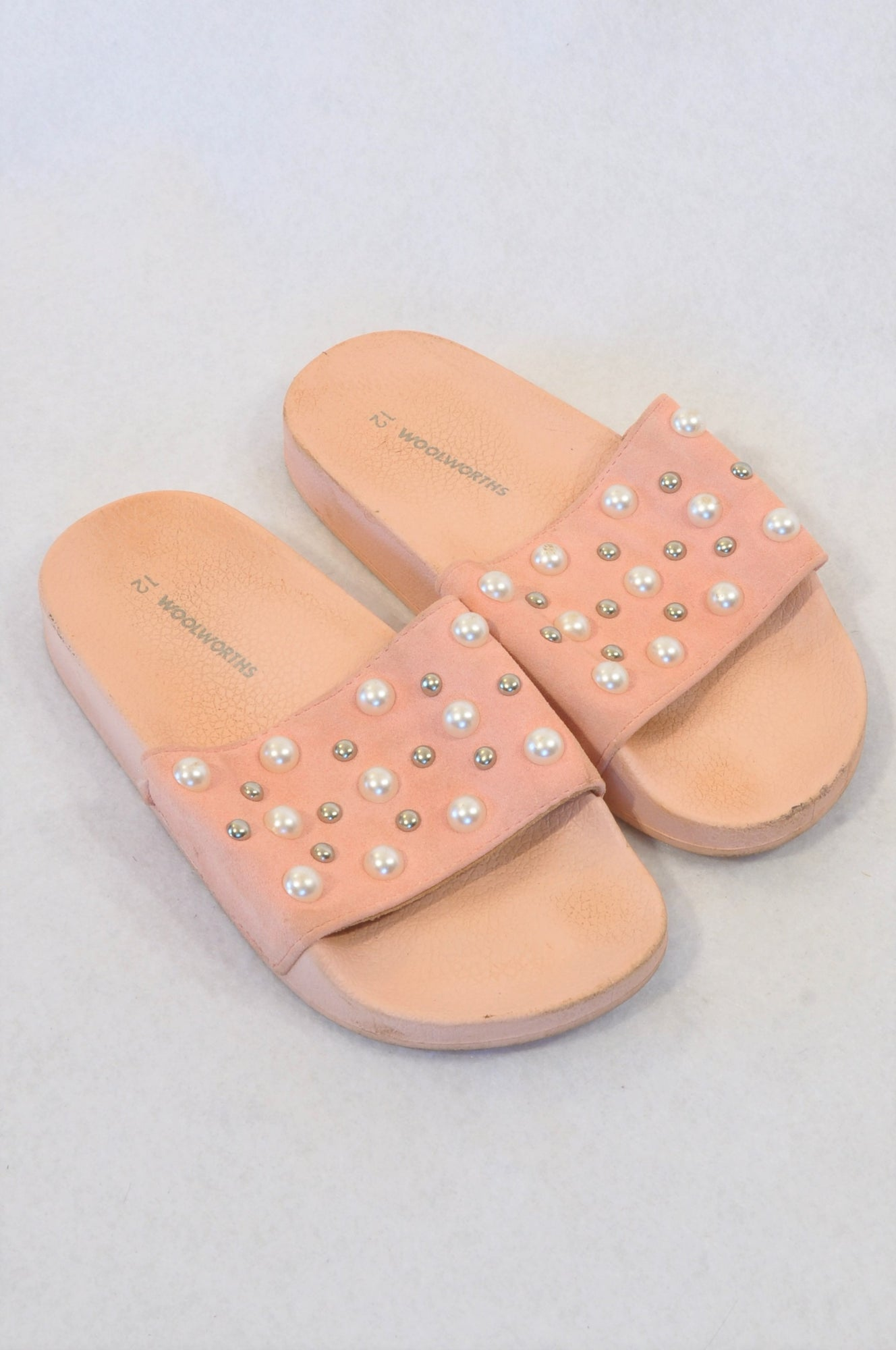 Woolworths Size 12 Pink Beaded Sandals Girls 6 months to 3 years