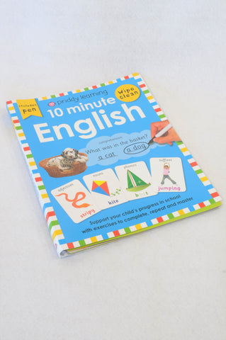 Priddy 10 Minute English Wipe Clean Exercise Book Unisex 6+ years