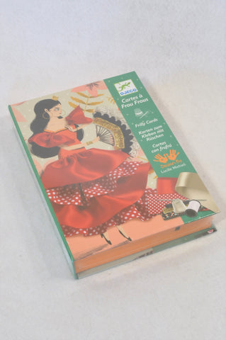 New Djeco Frilly Cards Flamenco Craft Game Unisex 7-14 years