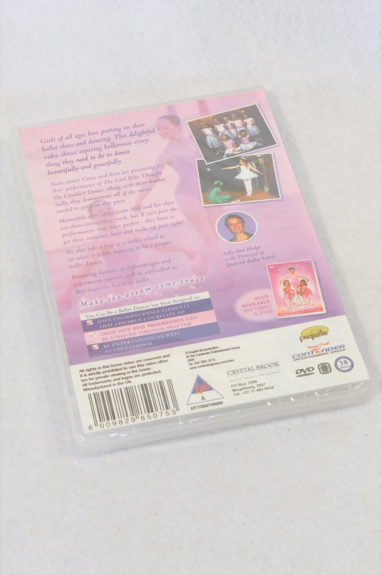 New Unbranded You Can Be A Ballet Dancer Kids DVD Girls 2-6 years
