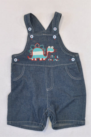 Little Rebels Denim Dino Embroidered Dungarees Boys 18-24 months