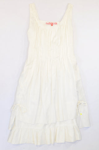 Rage White Pleat Layered Tie Cocktail Dress Women Size S