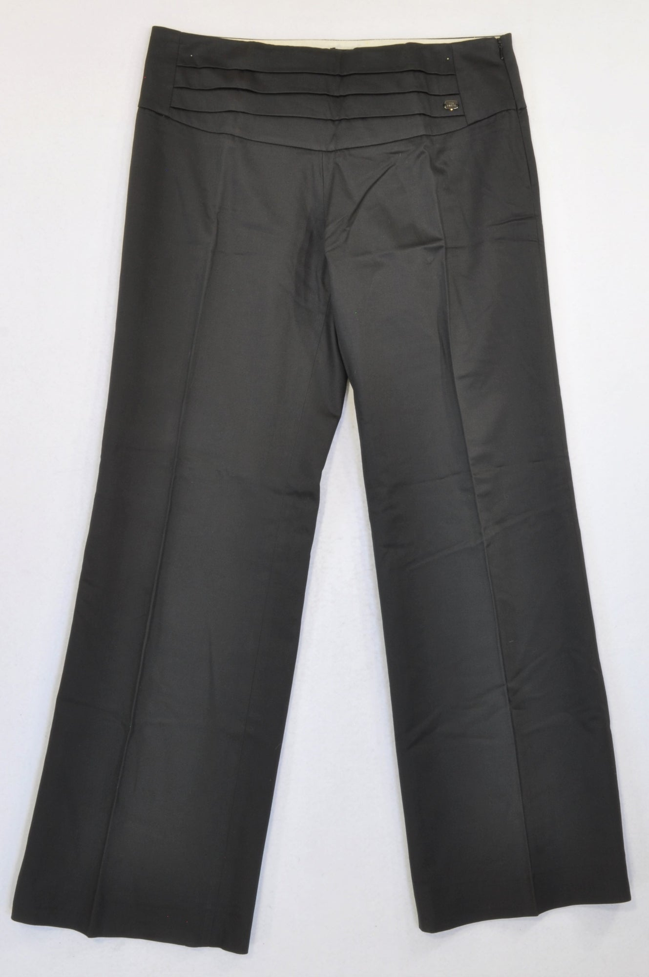 Ted Baker UK Black Pleat Detail Slack Pants Women Size 12
