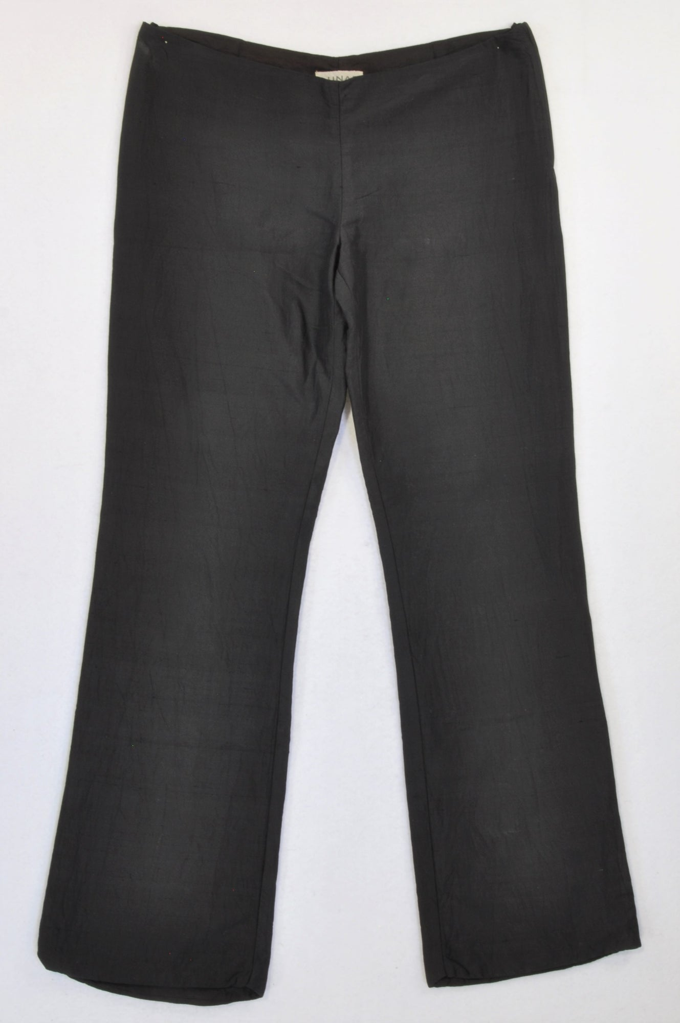 Lunar Clothing Black Crushed Satin Trouser Pants Women Size 10