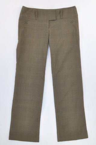 Mr. Price Olive Plaid Office Pants Women Size 34