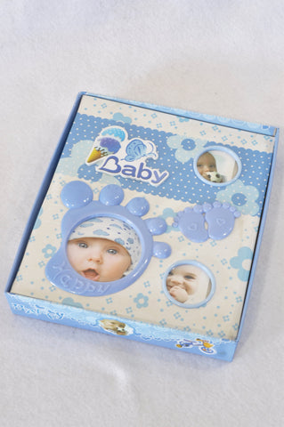 New Unbranded Blue Baby Photo Album Unisex N-B to 2 years