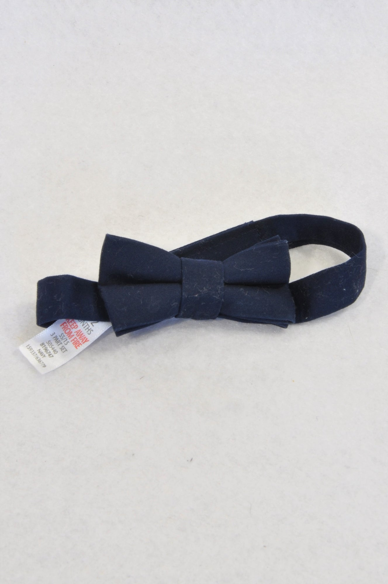 BHS Navy Bow Velcro Bowtie Boys 9-12 months