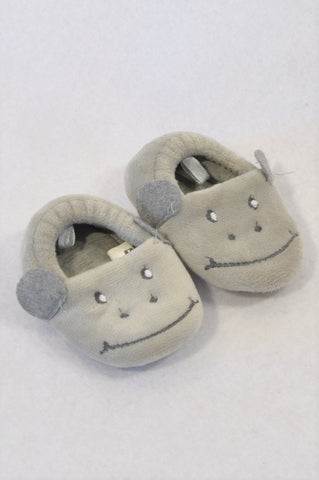 Unbranded Size 3 Grey Hippo Slippers Unisex 9-12 months
