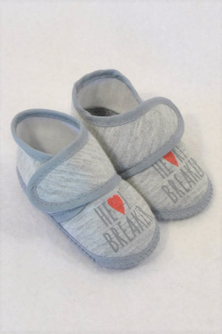 Unbranded Size 1 Grey Heart Breaker Shoes Unisex 3-6 months